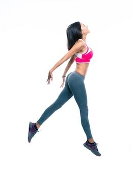 Femme fitness, sauter