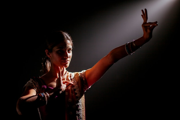 Femme indienne dans un sari
