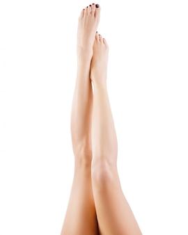 Femme, jambes, isolé
