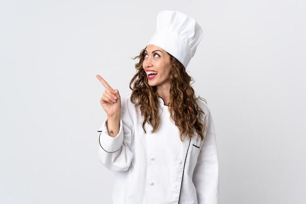 Femme jeune chef