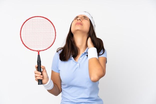 Femme jouant tenis