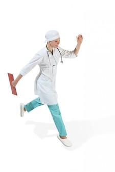 Femme médecin isolée. concept de santé