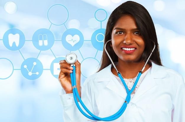 Femme médecin médecin