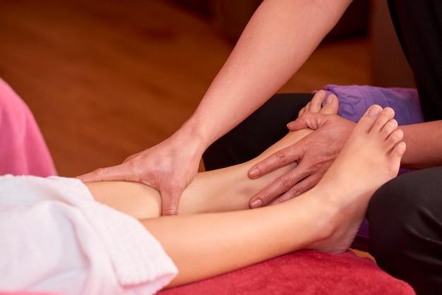Femme relâche, depuis, massage