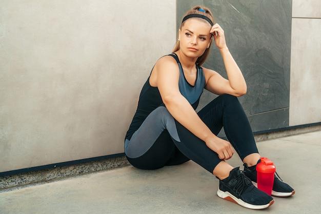 Femme, reposer, sportswear