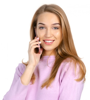 Femme, smartphone