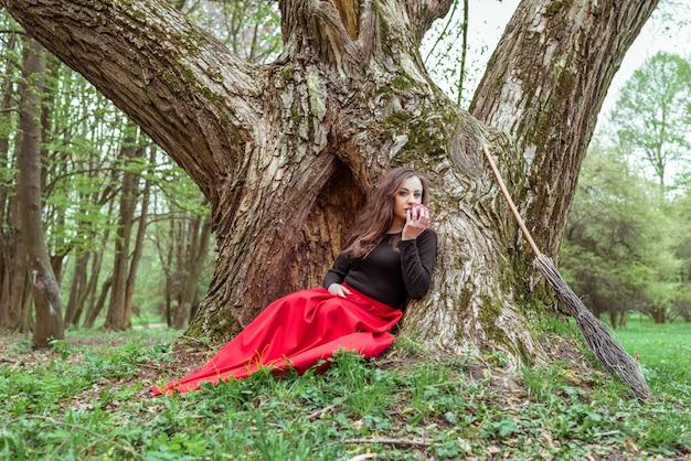 Femme sorcière mystique