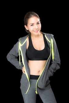 Femme de sport en vêtements de sport de mode.