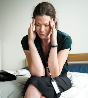 Une femme stressante