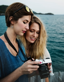 Femme vacances voyage voyage détente