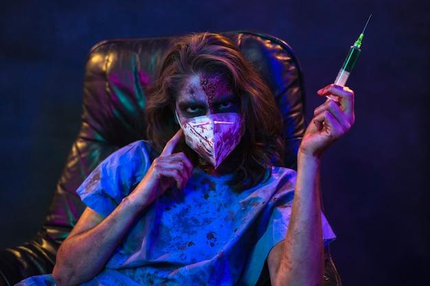 Femme zombie halloween