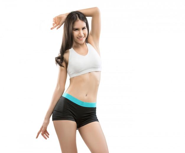 Les femmes asiatiques qu'elle aime bien la forme, l'exercice et une vie saine