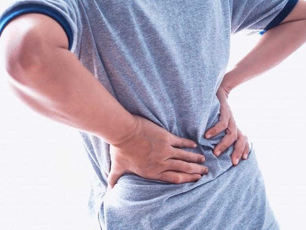 Femmes asiatiques souffrant de graves maux de dos