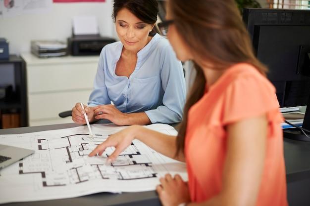 Femmes créatives travaillant sur un nouveau projet de maison