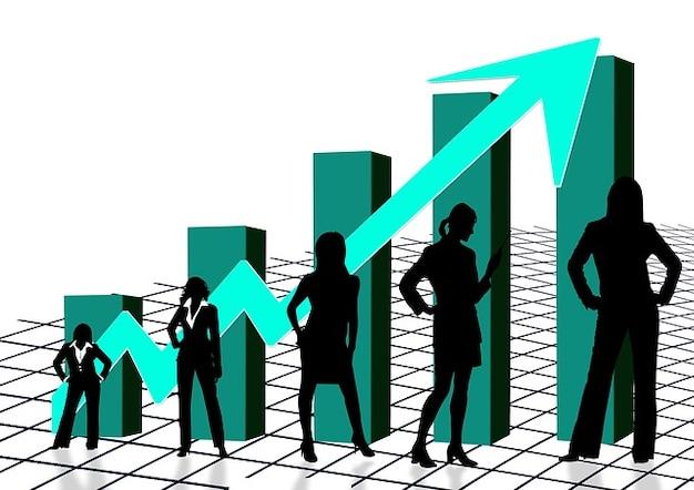 Femmes silhouette taux s femme charte graphique quota