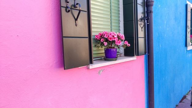 Fenêtre authentique avec des volets verts dans la vieille fenêtre de style méditerranéen contre le mur de pierre