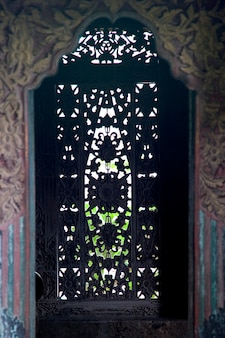 Fenêtre décorative à bali