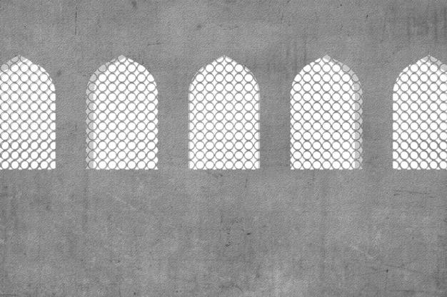 Fenêtre de la mosquée isolé sur fond blanc
