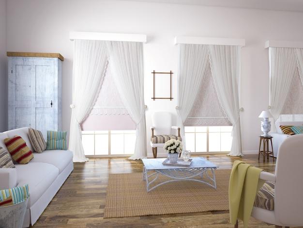 Fenêtre rideau avec décoratif