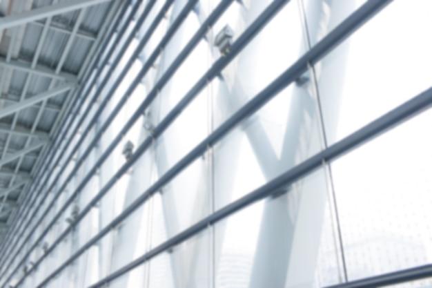 Fenêtre en verre ou intérieur de mur de verre arrière-plan flou