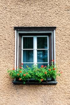 Fenêtre vintage sur mur