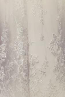 Fermer les détails de la robe de mariage