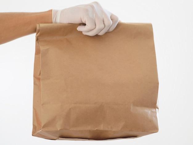 Fermer. livraison sécuritaire des aliments par courrier pendant le coronavirus .. espace copie.