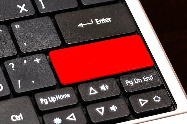 Fermez le bouton vide sur le clavier d'ordinateur portable.