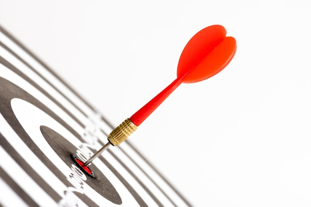 Fermez les flèches vertes et rouges du centre de la cible.