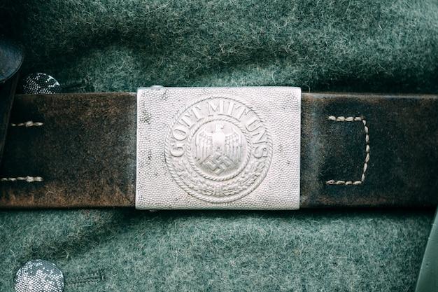 Fermoir de ceinture allemand pendant la seconde guerre mondiale