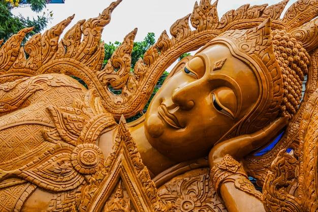 Festival des bougies d'ubon ratchathani, thaïlande