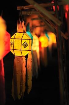 Festival des lanternes colorées ou festival de yee peng (nouvelle année au nord de la thaïlande), chiang mai
