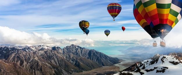 Festival de montgolfières dans le ciel