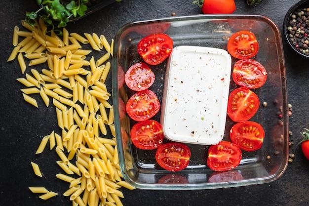 Fetapasta tomates deuxième plat épices fromage feta penne pâtes feta