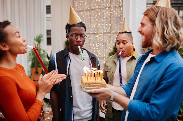 Fête d'anniversaire à l'extérieur