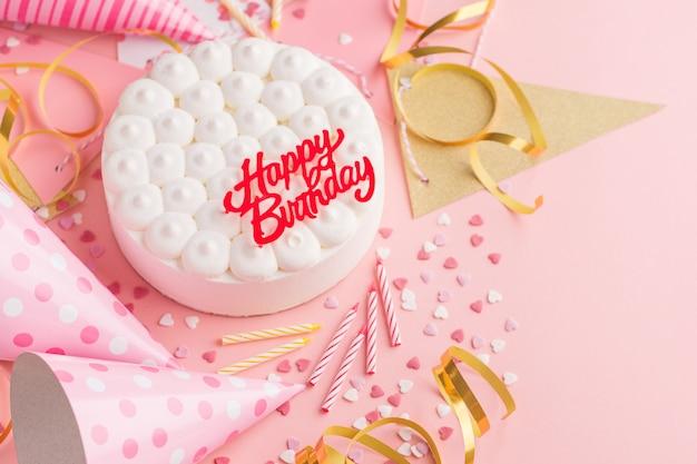 Fête anniversaire fond avec gâteau