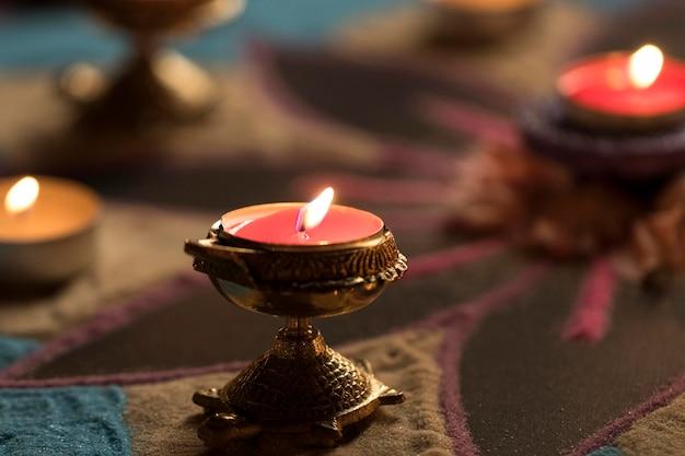 Fête de diwali de la tradition des lumières