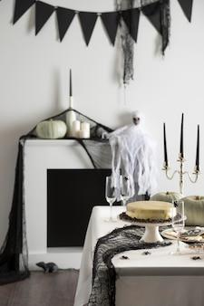 Fête d'halloween traite sur table