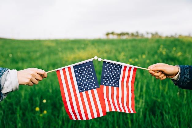Fête de l'indépendance symboles herbe sur fond