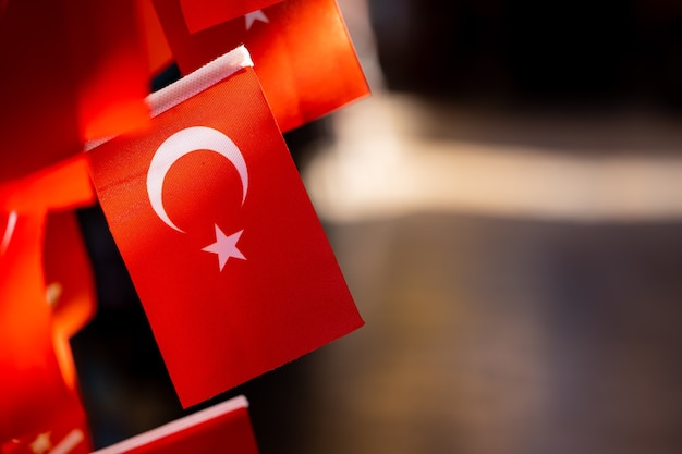 Une fête nationale et des drapeaux en turquie