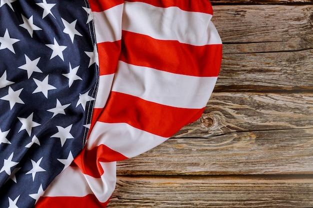 Fête nationale des états-unis drapeau américain bois memorial day