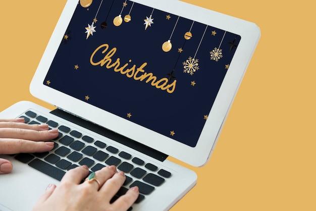 Fête De Noël Concept De Noël Photo gratuit