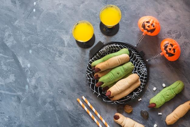 Fête de la nourriture et des boissons d'halloween