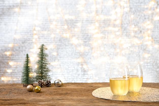 Fête de nouvel an de noël avec fond de cadeau présent célébrer le temps d'une bonne occasion spéciale