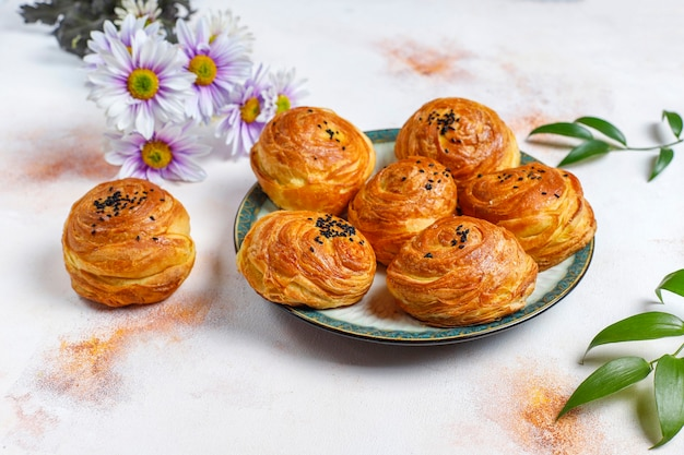 Fête traditionnelle de l'azerbaïdjan novruz bonbons qogals.