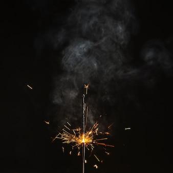 Feu de bengale presque brûlé
