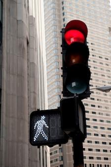 Feu de circulation à boston, massachusetts, états-unis