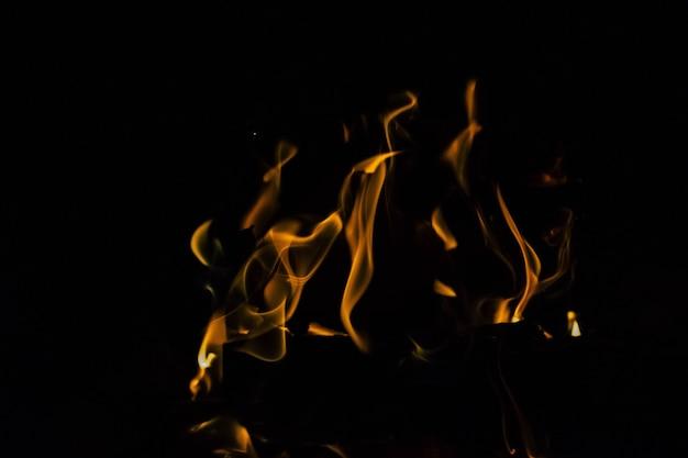 Feu et flammes de camping