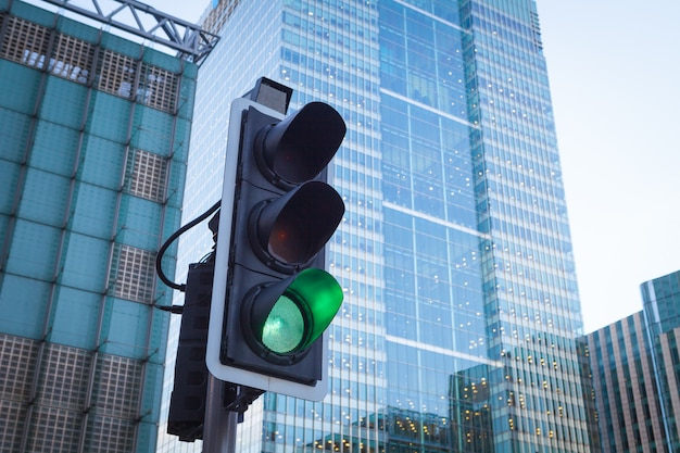 Feu de signalisation dans les transports urbains à londres
