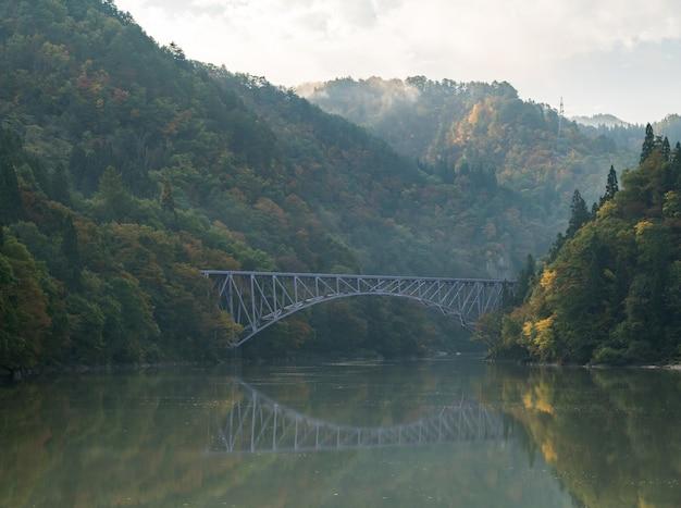 Feuillage d'automne premier pont vue fukushima japon